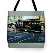 Turnaround At Powell And Mason Streets, April 6 1961 Tote Bag
