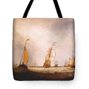 turner helvoetsluys the city of utrecht 64 going to sea 1832 Joseph Mallord William Turner Tote Bag
