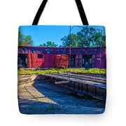 Turntable At Roundhouse Tote Bag