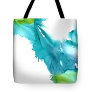 Turquoise Abstract Tote Bag