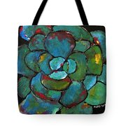 Turquoise Agave Tote Bag