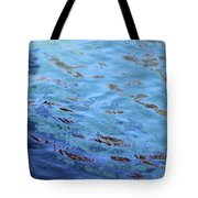 Turquoise And Blue Swirls Large Canvas Tote Bag