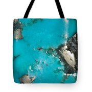 Turquoise And Gold Tote Bag