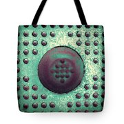 Green And Violet Dots In Cube Tote Bag