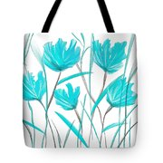 Turquoise Bloom Tote Bag