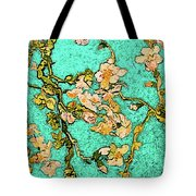 Turquoise Blossom Tote Bag