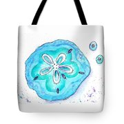 Turquoise Blue Sand Dollar Shells Tote Bag