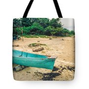 Turquoise Canoe Negril Tote Bag