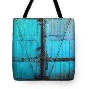 Turquoise Doors Tote Bag