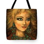 Turquoise Eyes Tote Bag
