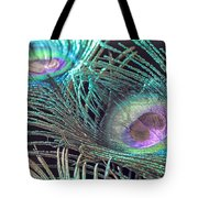 Turquoise Feather Tote Bag