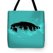 Turquoise Fish Tote Bag