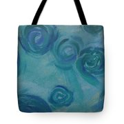 Turquoise Flora Tote Bag
