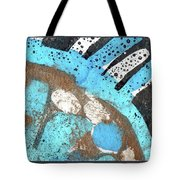 Turquoise Gold Pond 2 Tote Bag