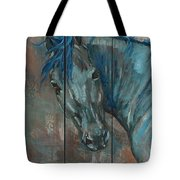 Turquoise Horse Tote Bag
