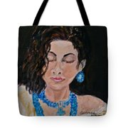 Turquoise Lady 1 Tote Bag