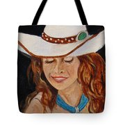 Turquoise Lady 2 Tote Bag