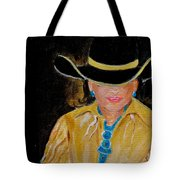 Turquoise Lady 3 Tote Bag