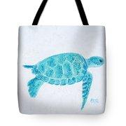 Turquoise Marine Turtle Tote Bag