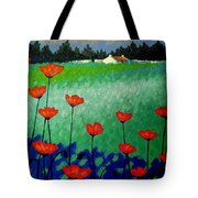 Turquoise Meadow Tote Bag