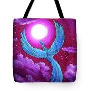 Turquoise Moon Phoenix Tote Bag