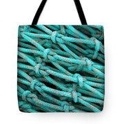 Turquoise Nets Tote Bag