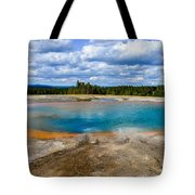 Turquoise Pool, Yellowstone Tote Bag
