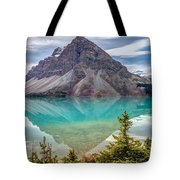 Turquoise Reflection At Bow Lake Tote Bag