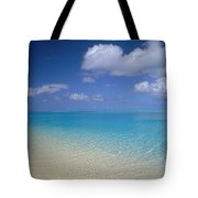 Turquoise Shoreline Tote Bag