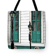 Turquoise Shutters Tote Bag