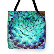 Turquoise Succulent 2 Tote Bag