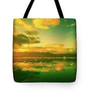 Turquoise Sunrise Tote Bag