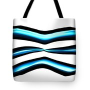 Turquoise Teal Abstract Lines Tote Bag