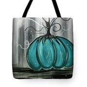 Turquoise Teal Surreal Pumpkin Tote Bag