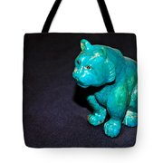Turquoise Tiger Tote Bag