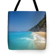 Turquoise Water Paradise Beach Tote Bag