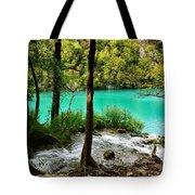 Turquoise Waters Of Milanovac Lake Tote Bag
