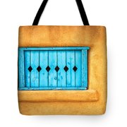 Turquoise Window Shutter Tote Bag