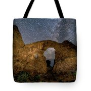 Turret Arch Milkyway, Arches National Park, Utah Tote Bag