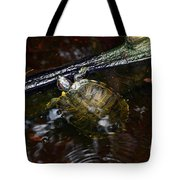 Turtle And The Stick Tote Bag