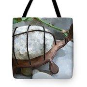 Turtle Full Of Rocks Tote Bag