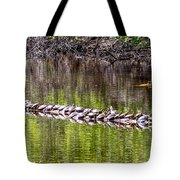Turtle Log Tote Bag