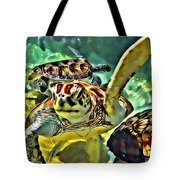 Turtle Swim Tote Bag