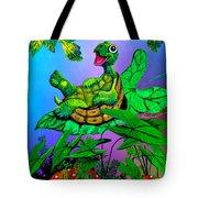 Turtle Trampoline Tote Bag