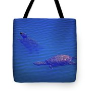 Turtles At The Lily Pond 001 Tote Bag