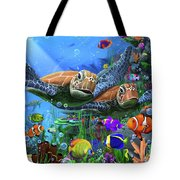 Turtles Of The Deep Tote Bag