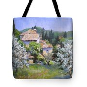 Tuscan  Hilltop Village Tote Bag