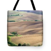 Tuscan Landscape With Plowed Fields Tote Bag