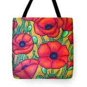 Tuscan Poppies - Crop 1 Tote Bag
