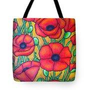 Tuscan Poppies - Crop 1 Tote Bag